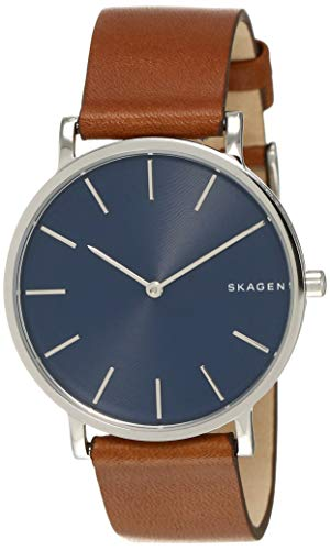 スカーゲン 腕時計 メンズ SKW6446 Skagen Men's Hagen Stainless Steel Japanese-Quartz Watch with Leather Calfskin Strap, Brown, 18 (Model: SKW6446)スカーゲン 腕時計 メンズ SKW6446