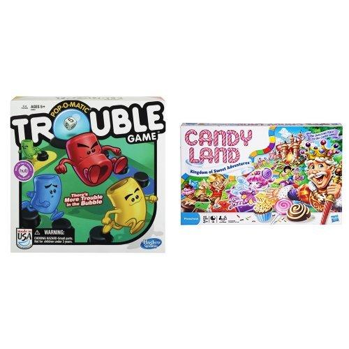 ボードゲーム 英語 アメリカ 海外ゲーム 【送料無料】Trouble Game and Candy Land - The Kingdom of Sweets Board Game Bundleボードゲーム 英語 アメリカ 海外ゲーム