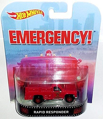 ホットウィール マテル ミニカー ホットウイール Hot Wheels Retro Emergency Rapid Responder Die Castホットウィール マテル ミニカー ホットウイール