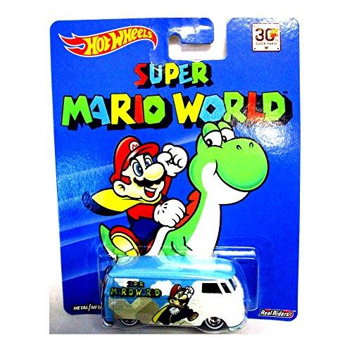 ホットウィール マテル ミニカー ホットウイール 【送料無料】HOT WHEELS SUPER MARIO WORLD VOLKSWAGEN T1 PANEL BUS NEW RARE REAL RIDERSホットウィール マテル ミニカー ホットウイール