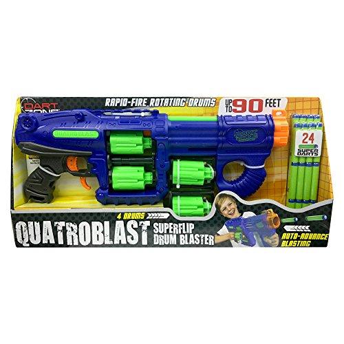 ダートゾーン ブラスター アメリカ 直輸入 ダーツ 6347TS Dart Zone Quatroblast Superflip Quad-Drum Blaster Foam Dart Gun Toyダートゾーン ブラスター アメリカ 直輸入 ダーツ 6347TS