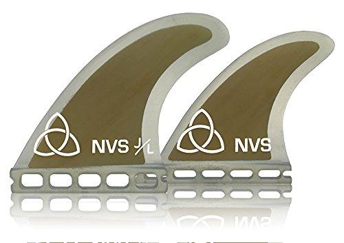 サーフィン フィン マリンスポーツ Naked Viking Surf Medium JL Quad Surfboard Fins (Set of 4) Bamboo Futures Baseサーフィン フィン マリンスポーツ