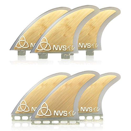 サーフィン フィン マリンスポーツ Naked Viking Surf Medium TC Thruster Surfboard Fins (Set of 3) Bamboo, Futures Baseサーフィン フィン マリンスポーツ