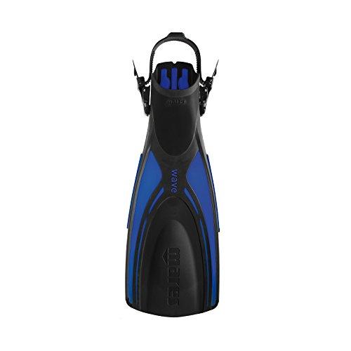 サーフィン フィン マリンスポーツ Mares Wave Open Heel Tri Material Dive Fins (Blue, X-Small)サーフィン フィン マリンスポーツ