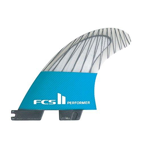 サーフィン フィン マリンスポーツ FCS FCS II Performer Performance Core Carbon Thruster Fin X Large Tealサーフィン フィン マリンスポーツ FCS