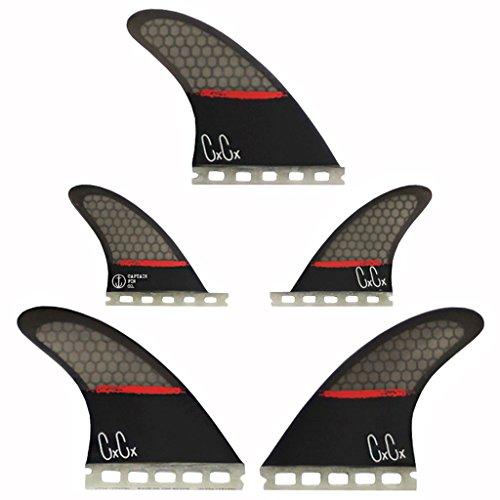 サーフィン フィン マリンスポーツ 【送料無料】Captain Fin Co. Chris Christenson 5-Fin SPL Surfboard Fins - 5 Fin Set - Single Tab - Blackサーフィン フィン マリンスポーツ