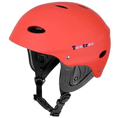 ウォーターヘルメット 安全 マリンスポーツ サーフィン ウェイクボード Tontron Water Helmet (Matte Warm Red,Medium)ウォーターヘルメット 安全 マリンスポーツ サーフィン ウェイクボード