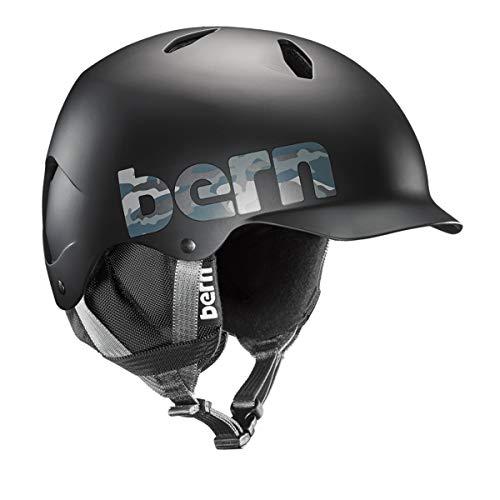 ウォーターヘルメット 安全 マリンスポーツ サーフィン ウェイクボード SB03E17MBC1 【送料無料】BERN, Kids Winter Bandito Snow Helmet, Black Camo Logo with Black Liner, Sウォーターヘルメット 安全 マリンスポーツ サーフィン ウェイクボード SB03E17MBC1