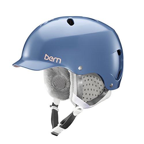 ウォーターヘルメット 安全 マリンスポーツ サーフィン ウェイクボード SW05E17SID1 【送料無料】Bern Lenox Helmet (Satin Indigo w/Grey Liner, Small)ウォーターヘルメット 安全 マリンスポーツ サーフィン ウェイクボード SW05E17SID1