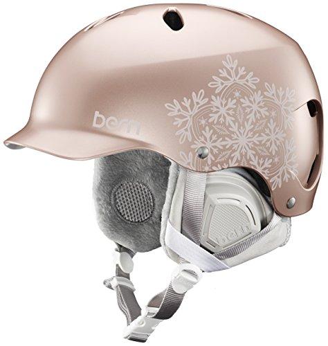 ウォーターヘルメット 安全 マリンスポーツ サーフィン ウェイクボード SW05E17SRS1 Bern Lenox Helmet - Satin Rose Gold Snowflake/Grey Liner Smallウォーターヘルメット 安全 マリンスポーツ サーフィン ウェイクボード SW05E17SRS1