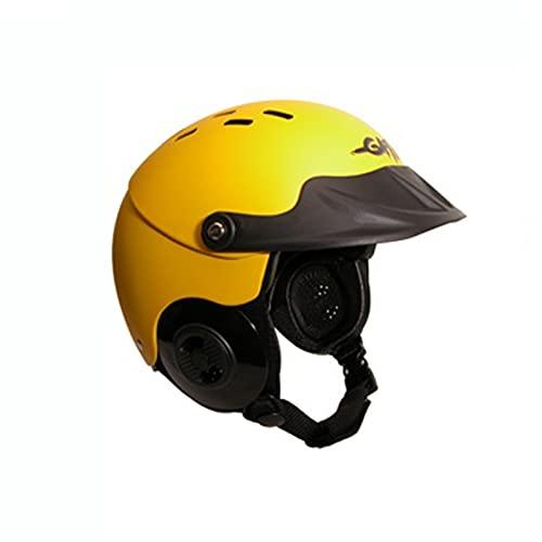 ウォーターヘルメット 安全 マリンスポーツ サーフィン ウェイクボード 【送料無料】Gath Gedi Helmet with Peak - Yellow - Sウォーターヘルメット 安全 マリンスポーツ サーフィン ウェイクボード
