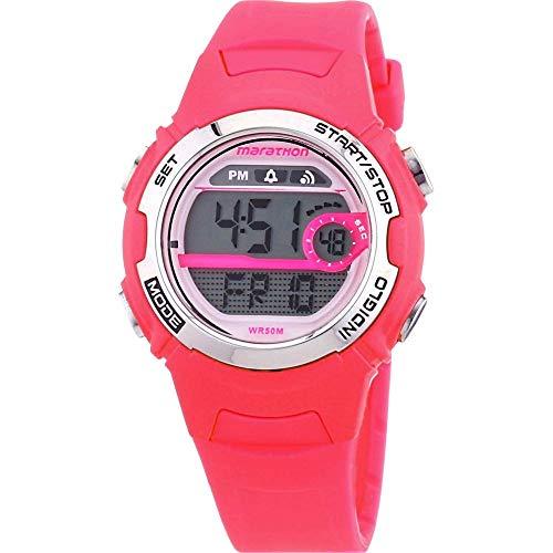 タイメックス 腕時計 レディース T5K771 【送料無料】Timex Marathon Women's T5K771 Watch with Grey Dial Digital Display and Pink Resin Strapタイメックス 腕時計 レディース T5K771