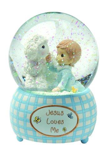 スノーグローブ 雪 置物 インテリア 海外モデル 102404 【送料無料】Precious Moments, Jesus Loves Me, Boy, Resin Snow Globe, 102404スノーグローブ 雪 置物 インテリア 海外モデル 102404