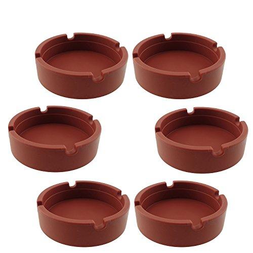 灰皿 海外モデル アメリカ 輸入物 INNOLIFE - Eco-Friendly Colorfull Premium Silicone Rubber High Temperature Heat Resistant Round Design Ashtray (Brown)灰皿 海外モデル アメリカ 輸入物