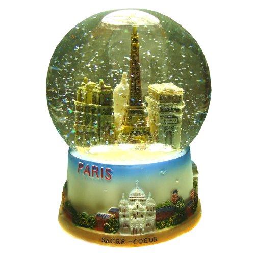 スノーグローブ 雪 置物 インテリア 海外モデル Souvenirs of France - Glass and Resin Paris Snow Globe (14cm - 5.5in)スノーグローブ 雪 置物 インテリア 海外モデル