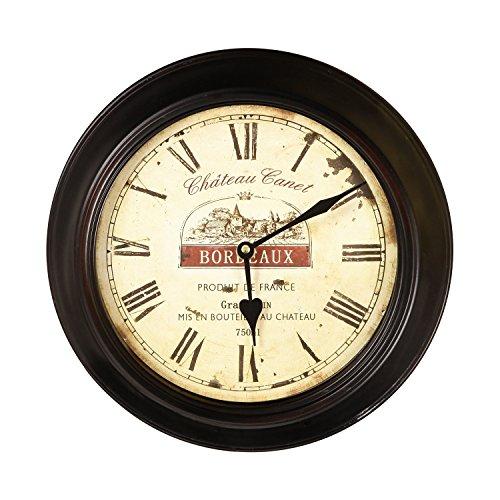 壁掛け時計 インテリア インテリア 海外モデル アメリカ JCK58 Joveco Vintage Bordeaux Wall Clock. Bordeaux Modest Circular Wall Clock.壁掛け時計 インテリア インテリア 海外モデル アメリカ JCK58