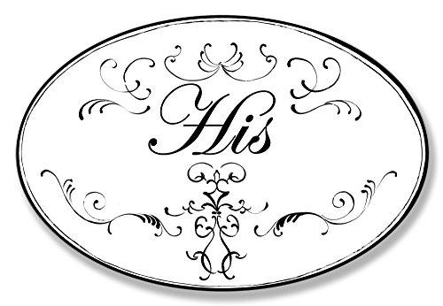 壁飾り インテリア タペストリー 壁掛けオブジェ 海外デザイン WRP-818 【送料無料】Stupell Home D?cor His White With Black Scrolls Oval Bathroom Wall Plaque, 10 x 0.5 x 15, Proudly壁飾り インテリア タペストリー 壁掛けオブジェ 海外デザイン WRP-818