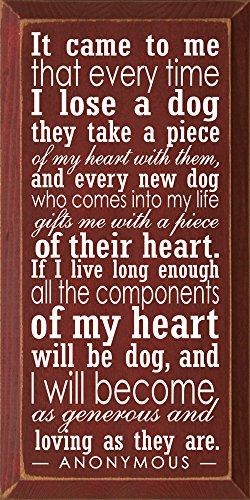 壁飾り インテリア タペストリー 壁掛けオブジェ 海外デザイン 4379a 【送料無料】Wooden Dog Sign - It Came to Me That Every Time I Lose a Dog. (Burgundy)壁飾り インテリア タペストリー 壁掛けオブジェ 海外デザイン 4379a