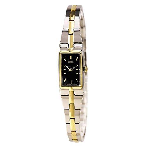 腕時計 セイコー レディース SZZC42 【送料無料】Women's Two Tone Stainless Steel Petite Dress Watch Black Dial腕時計 セイコー レディース SZZC42