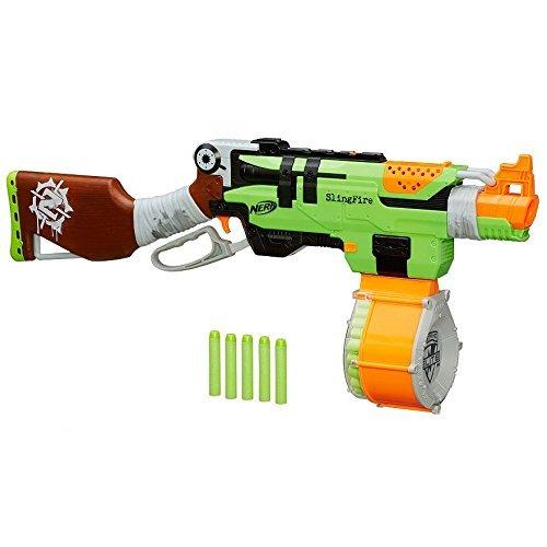 ナーフ ゾンビストライク アメリカ 直輸入 ソフトダーツ 【送料無料】Nerf Zombie Strike SlingFire Blaster Rifle Gun with 25 Dart Drum and 31 Darts Exclusive Limited Editionナーフ ゾンビストライク アメリカ 直輸入 ソフトダーツ