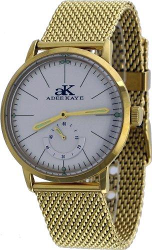 アディーケイ 腕時計 メンズ アメリカ LA AK9044 Adee Kaye #AK9044-MGMB Men's Retro Vintage Gold Tone Mesh Band Automatic Watchアディーケイ 腕時計 メンズ アメリカ LA AK9044