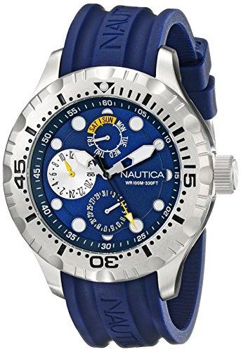 ノーティカ 腕時計 メンズ N15105G Nautica Men's N15105G BFD 100 Multi Analog Display Japanese Quartz Black Watchノーティカ 腕時計 メンズ N15105G