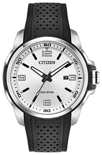 腕時計 シチズン 逆輸入 海外モデル 海外限定 【送料無料】Citizen AR Silver Dial Silicone Strap Men's Watch AW1150-07A腕時計 シチズン 逆輸入 海外モデル 海外限定