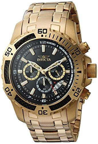 インヴィクタ インビクタ プロダイバー 腕時計 メンズ 24855 【送料無料】Invicta Men's Pro Diver Quartz Watch with Stainless-Steel Strap, Gold, 25.5 (Model: 24855)インヴィクタ インビクタ プロダイバー 腕時計 メンズ 24855