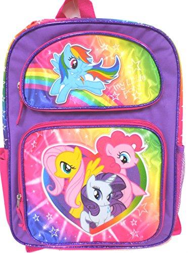 マイリトルポニー ハズブロ hasbro、おしゃれなポニー かわいいポニー ゆめかわいい 【送料無料】My Little Pony and Friends Large Backpack 16