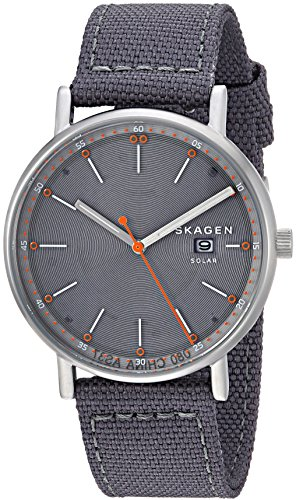 スカーゲン 腕時計 メンズ SKW6452 Skagen Men's Signatur Stainless Steel Japanese-Quartz Watch with Nylon Strap, Grey, 20 (Model: SKW6452スカーゲン 腕時計 メンズ SKW6452