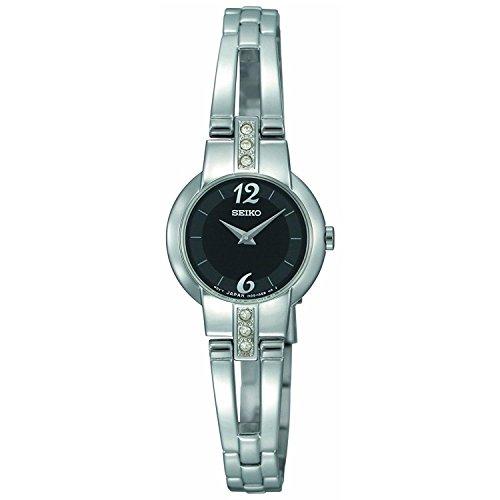 セイコー 腕時計 レディース SUJG43 【送料無料】Seiko Women's Stainless Steel Bangle Style Dress Quartz Black Dial Crystal SUJG43セイコー 腕時計 レディース SUJG43