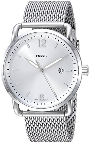 フォッシル 腕時計 メンズ FS5418 Fossil Men's Commuter Quartz Stainless Steel Mesh Casual Watch Color: Silver (Model: FS5418)フォッシル 腕時計 メンズ FS5418