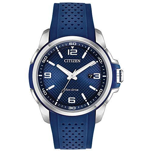 シチズン 逆輸入 海外モデル 海外限定 アメリカ直輸入 Citizen AR Blue Dial Silicone Strap Men's Watch AW1158-05Lシチズン 逆輸入 海外モデル 海外限定 アメリカ直輸入