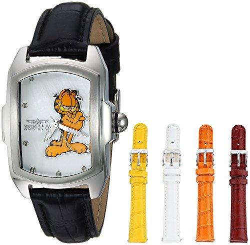 インヴィクタ インビクタ 腕時計 レディース 25143 Invicta Women's Character Collection Stainless Steel Quartz Watch with Leather Calfskin Strap, Black, 18 (Model: 25143)インヴィクタ インビクタ 腕時計 レディース 25143