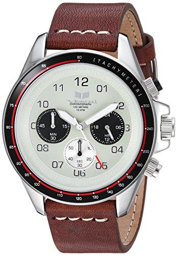 ベスタル ヴェスタル 腕時計 メンズ ZR243L03.BRWH Vestal ZR2 Leather Stainless Steel Japanese-Quartz Watch with Strap, Brown, 20 (Model: ZR243L03.BRWHベスタル ヴェスタル 腕時計 メンズ ZR243L03.BRWH