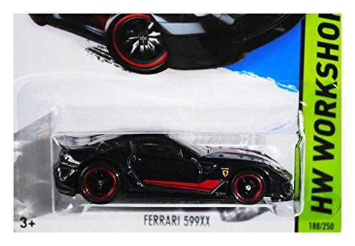ホットウィール マテル ミニカー ホットウイール Hot Wheels 2015 Thrill Racers Ferrari 599XX Super Treasure Hunt Spectraflame Black Card 188/250ホットウィール マテル ミニカー ホットウイール