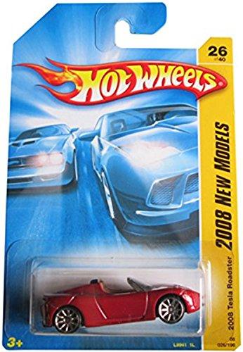 ホットウィール マテル ミニカー ホットウイール TESLA ROADSTER Hot Wheels 2008 New Models RED Tesla Roadster First Edition 1:64 Scale Collectible Die Cast Metal Toy Car Model #26ホットウィール マテル ミニカー ホットウイール