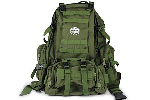 ミリタリーバックパック タクティカルバックパック サバイバルゲーム サバゲー アメリカ Turtle Creek 50L Hiking Backpack - Durable Tactical Backpack with 1000D Nylon - Wateミリタリーバックパック タクティカルバックパック サバイバルゲーム サバゲー アメリカ