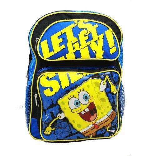 スポンジボブ バッグ バックパック リュックサック カートゥーンネットワーク 【送料無料】Sponge Bob Large Backpackスポンジボブ バッグ バックパック リュックサック カートゥーンネットワーク