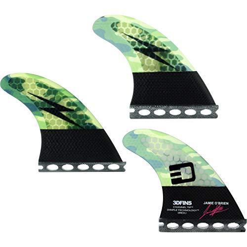 サーフィン フィン マリンスポーツ 3D Fins O'Brien Channel Tip Tech Camo Med Futures Fin Systemサーフィン フィン マリンスポーツ