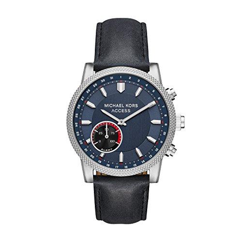 マイケルコース 腕時計 メンズ マイケル・コース アメリカ直輸入 MKT4024 Michael Kors Access Men's 'Hutton Hybrid Smartwatch' Quartz Stainless Steel and Leather Casual Watch, Color Blacマイケルコース 腕時計 メンズ マイケル・コース アメリカ直輸入 MKT4024