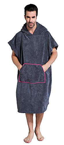 サーフィン リーシュコード マリンスポーツ A183 【送料無料】Winthome Changing Towel Robe, Surf Poncho (Gray) Shortサーフィン リーシュコード マリンスポーツ A183