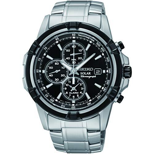 """セイコー 腕時計 メンズ Solar 【送料無料】Seiko Men""""s Chronograph Solar Powered Watch with Stainless Steel Strap SSC147P1セイコー 腕時計 メンズ Solar"""