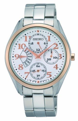 セイコー 腕時計 レディース Damenuhren Seiko Women's SRL052 Silver Rose Stainless Steel Quartz Watch Silver Dial by Seiko Watchesセイコー 腕時計 レディース Damenuhren