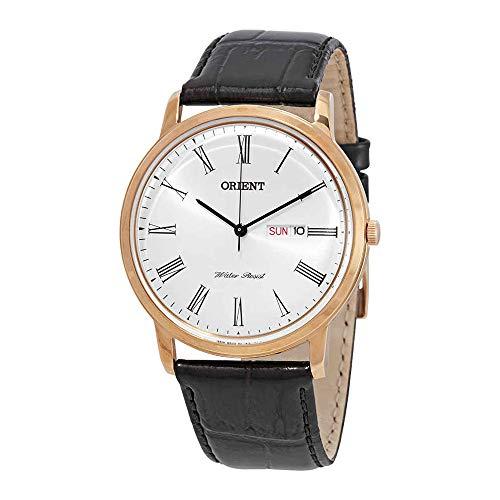 オリエント 腕時計 メンズ FUG1R006W6 Orient FUG1R006W6 40mm Gold Plated Stainless Steel Case Black Calfskin Mineral Men's Watchオリエント 腕時計 メンズ FUG1R006W6