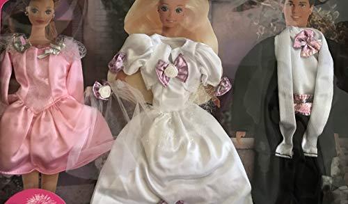 バービー バービー人形 着せ替え 衣装 ドレス 68070-94 Barbie Sparkle Pretty Fashions - Beautiful Wedding Outfits! Easy To Dress (1995 Arcotoys, Mattel)バービー バービー人形 着せ替え 衣装 ドレス 68070-94