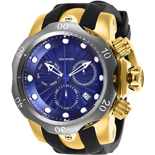 インヴィクタ インビクタ ベノム 腕時計 メンズ 【送料無料】Invicta Men's 52mm Venom Swiss Chronograph Blue Dial Gold Tone Stainless Steel Watchインヴィクタ インビクタ ベノム 腕時計 メンズ
