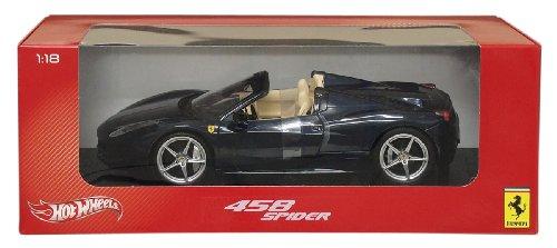 ホットウィール マテル ミニカー ホットウイール WX5529 Hot wheels X5529 2012 2013 Ferrari Italia 458 Spider Dark Blue Metallic 1/18 Diecast Model Car by Hotwheelsホットウィール マテル ミニカー ホットウイール WX5529