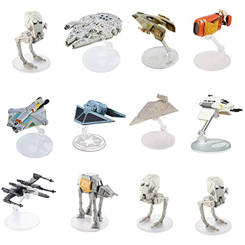 ホットウィール マテル ミニカー ホットウイール 【送料無料】Star Wars (12-Pack) Spaceships Models Toys Action Figure Set & Standsホットウィール マテル ミニカー ホットウイール