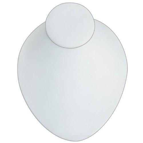 アクセサリスタンド ジュエリー 171-1L (WH) White Leather Low Profile Necklace Display Measures 6 3/4